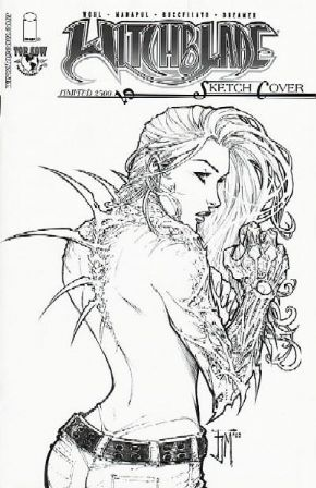 Witchblade #70 Manapul Sketch Variant Ltd 2500 Top Cow comic book